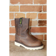 Youth Duke Wellington Pull On Boot in Mud Brown-Atomic 79