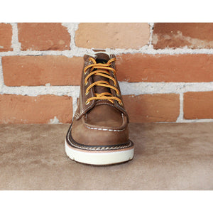 Youth Jackson Moc Toe Lace Up Boot in Mud Brown-Atomic 79