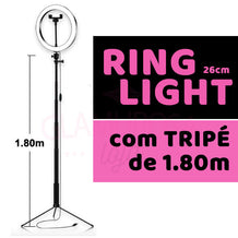 Ring Light com Tripé 1.80m