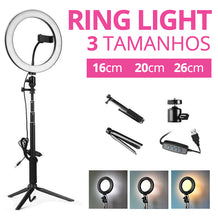 Ring Light ECO COM Tripé - Anel de Luz