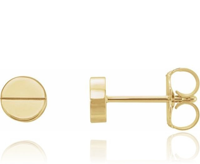Screw Stud Post Earrings 14K Gold {More Options}