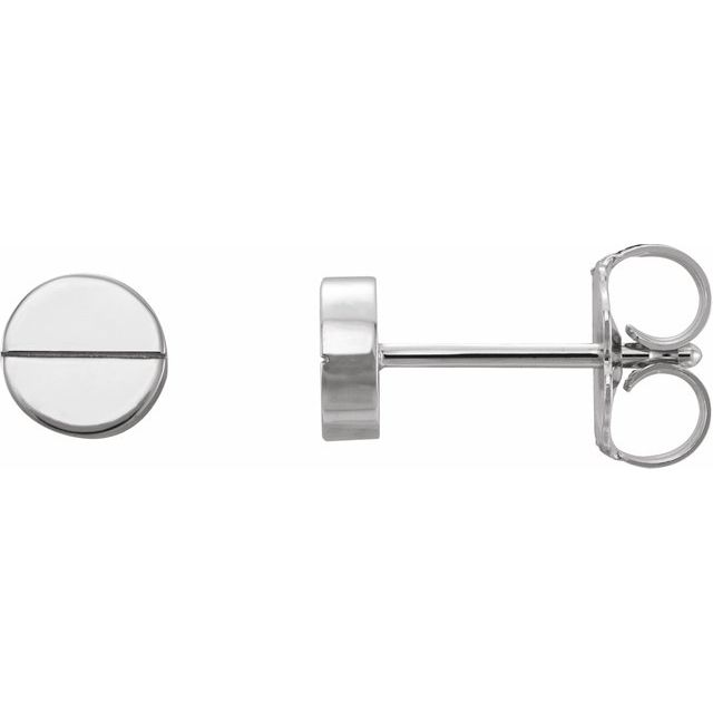 white gold screw studs