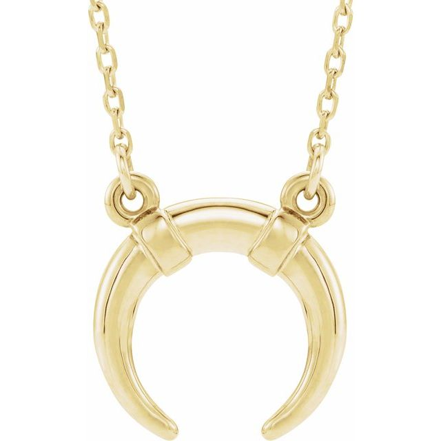 14K Solid Gold Upside Down Inverted Crescent Moon 18