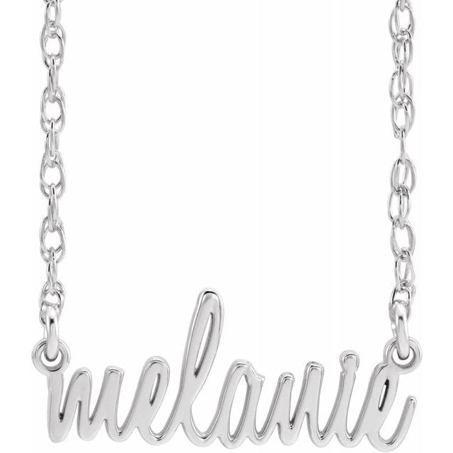 Custom Listing for Heather G. - 2 Nameplate Script Necklaces (Sterling Silver)