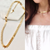 "Riverdale Gold Dipped Chain Leaves Necklace 15"" (Choker) to 17"" Length"