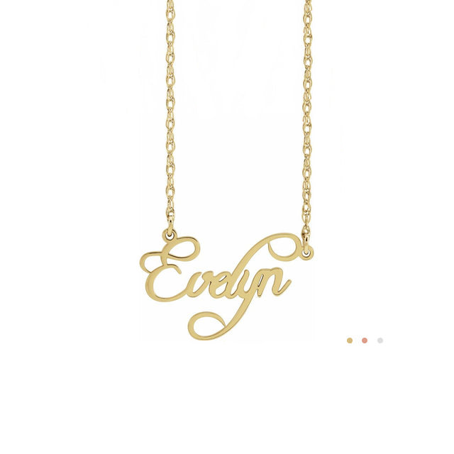 name plate necklace - personalized gifts