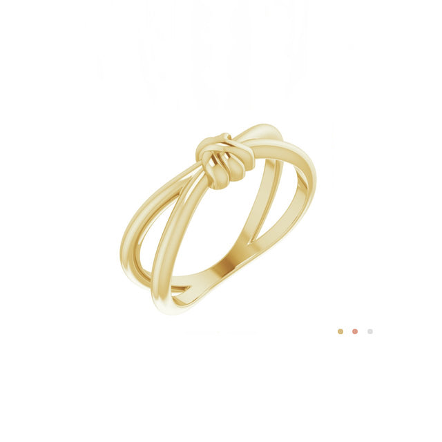 love knot 14k yellow gold ring