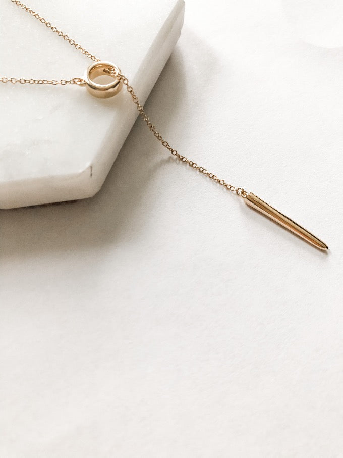 Bar and Lariat Necklace by Stuller | Abrau Jewelry