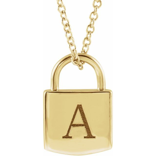 engravable lock necklace | abrau jewelry