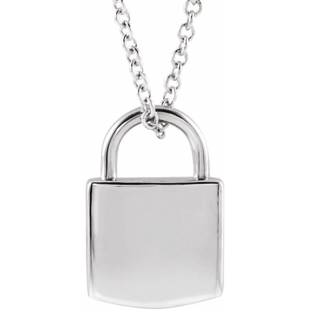 white gold lock necklace | abrau jewelry