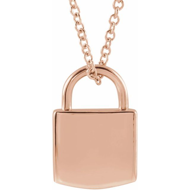 rose gold lock hecklace | Valentine's Day gifts | Abrau