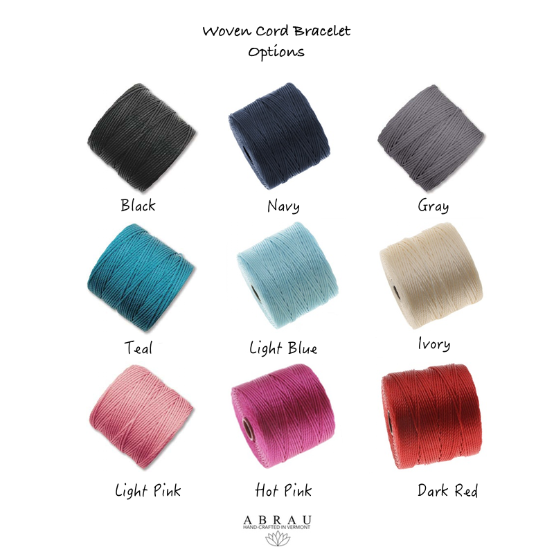 Cord Colors for Hand woven Abrau Bracelet