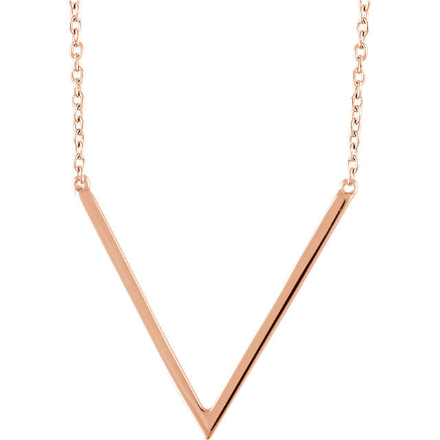 Rose gold chevron necklace