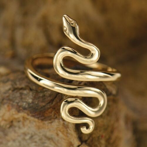 Adjustable Bronze Gold Snake Ring