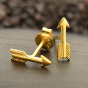 Gold Vermeil Arrow Stud Earrings