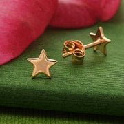 small rose gold stud post earrings