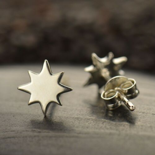 Northstar sterling silver post stud earrings