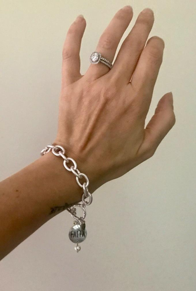 charm bracelet with toggle clasp