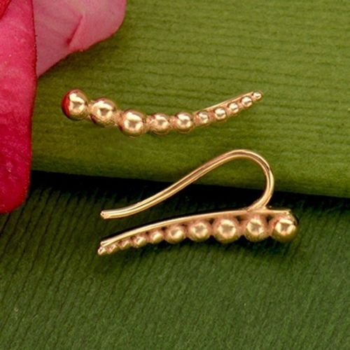 rose gold ear climbers