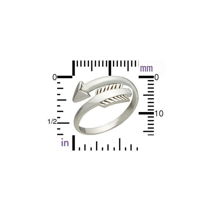 Sterling Silver Arrow Ring | Abrau Jewelry