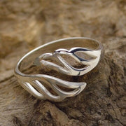 Angel Wing Remembrance Ring in Sterling Silver