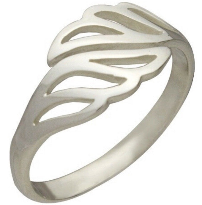 Angel Wing Adjustable Wrap Ring in Sterling Silver