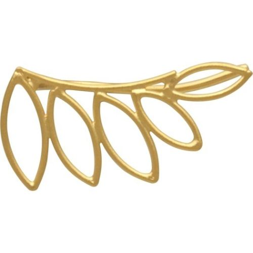 Open Leaves Floral Leaf Ear Climbers - 24K Gold Vermeil or Sterling Silver