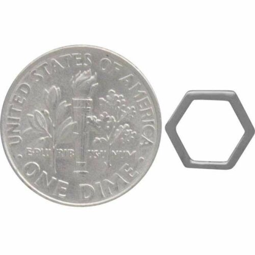 Honeycomb Hexagon Geometric Stud Post Earrings - Sterling Silver .925