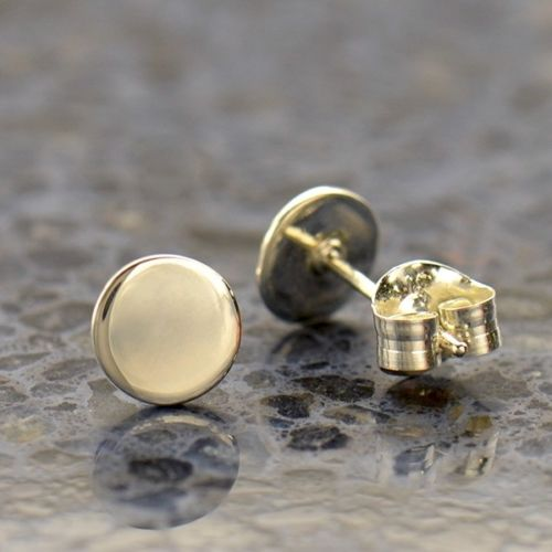 Sterling Silver Dot Stud Post Earrings