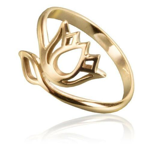 gold lotus ring adjustable wrap style