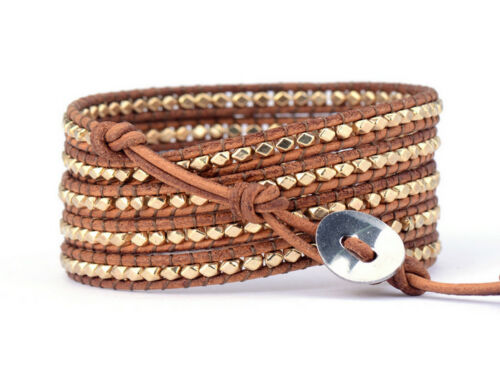 Gold Beaded Wrap Bracelet