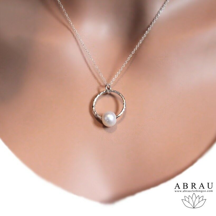 Pearl Pendant Necklace Sterling Silver