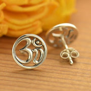 open ohm yoga inspired post stud earrings