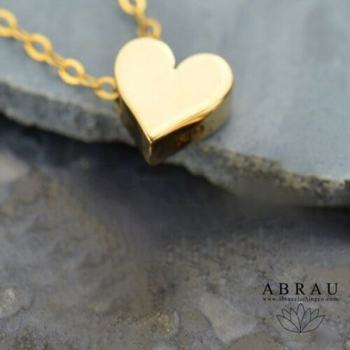 bronze gold filled heart bead necklace