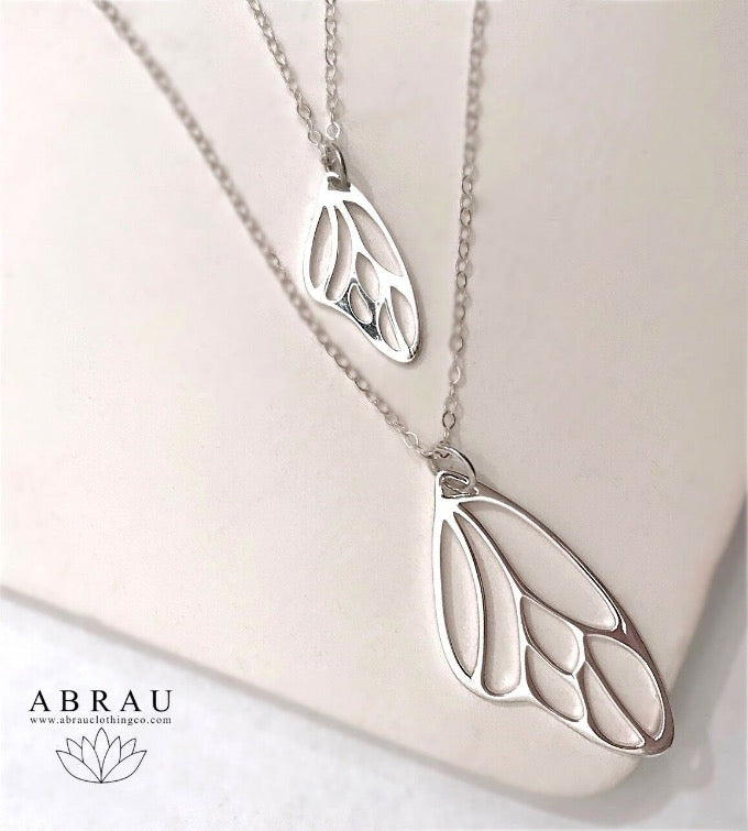 Butterfly Fairy Wing Necklace by Abrau Jewelry | Gifts for Girls and Women