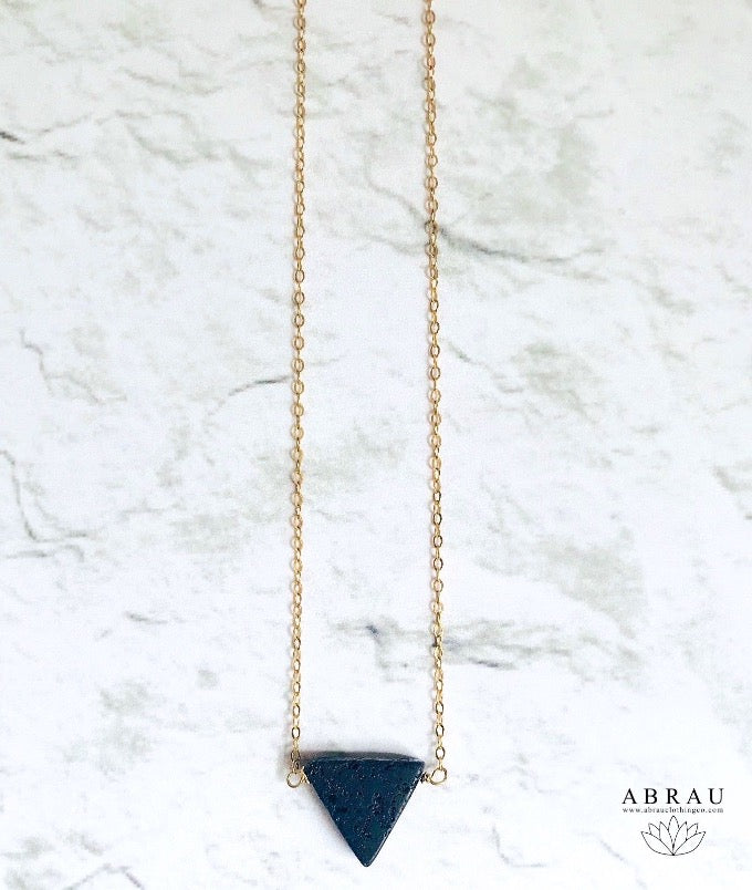 Lava Stone Diffuser Necklace in Gold Filled or Sterling Silver Chains