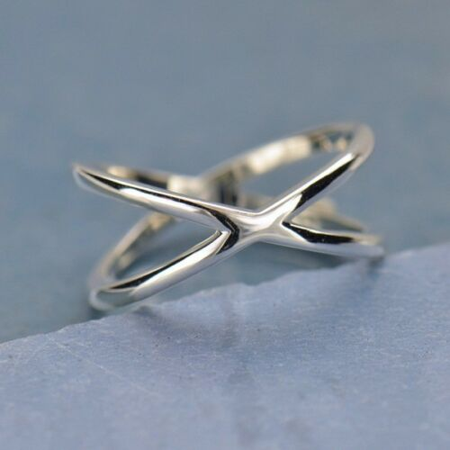 Sterling Silver Negative Space Criss Cross Ring | Abrau Jewelry