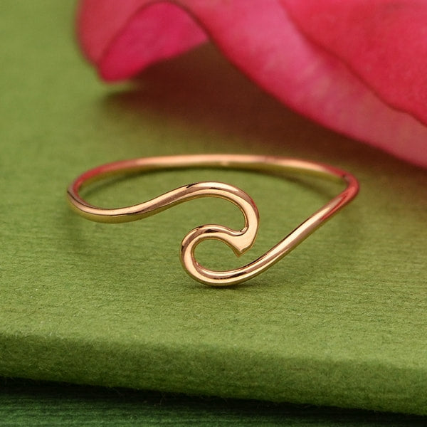 Rose Gold Handmade Wave Ring | Abrau Jewelry