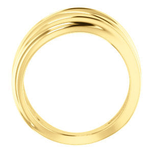 Modern and Minimal Negative Space Ring - 14K Solid Gold {More Options}