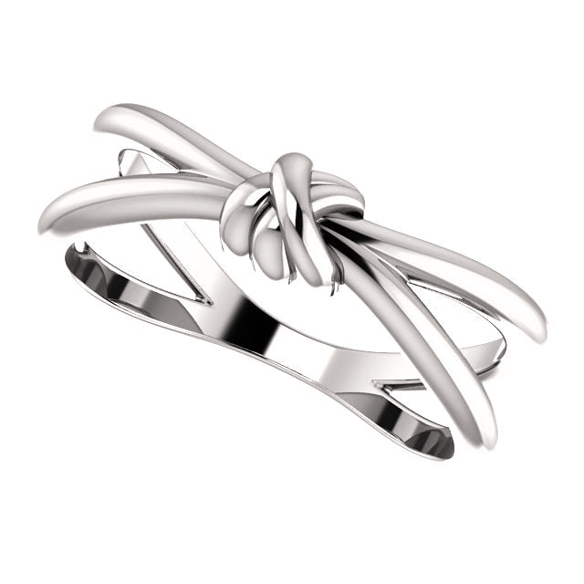 14k white gold love knot ring - gifts for her
