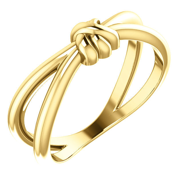14k yellow gold love knot ring - fine jewelry gifts for her