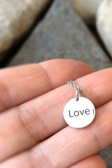 Double Sided Love Braille Necklace