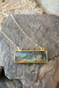 Labradorite Horizontal bar gemstone necklace