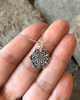 Gratitude Mandala Pendant Reversible Necklace