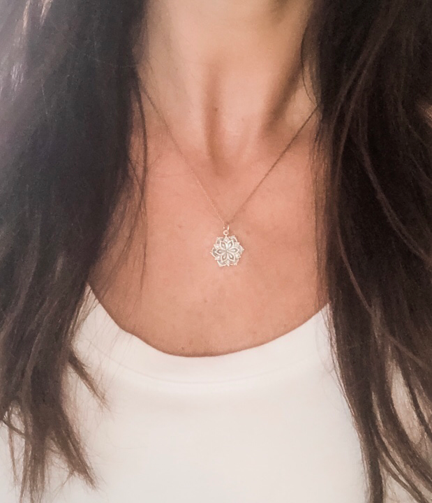 Gifts for Yoga Lovers - Mandala Necklace in Sterling Silver