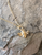 gold vermeil honey bee necklace