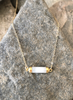 Moonstone Cylinder Bar Necklace by Abrau Jewelry Handmade