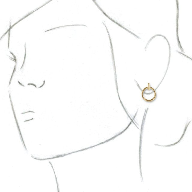Hoop dangles in 14k yellow gold