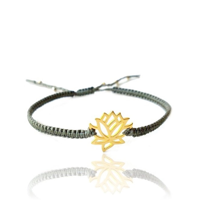 Enlightened - Lotus Flower Hand-Woven Gold Vermeil or Sterling Silver Bracelet