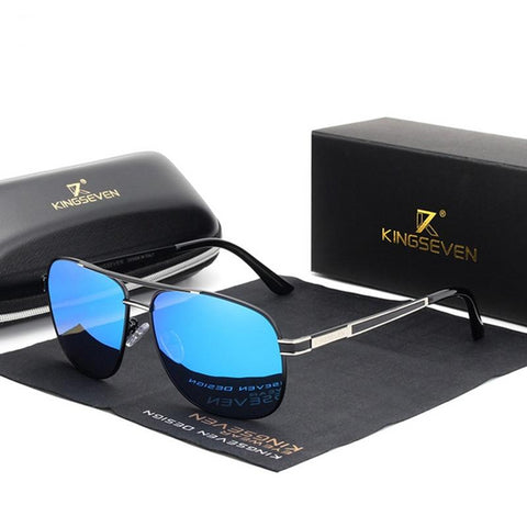 Stainless Steel Square Sunglasses